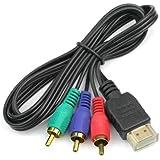 Generic ce000350.9m HDMI 3x RCA Black–Video Cable Adapters (HDMI, 3x RCA, mal, mal, Black)