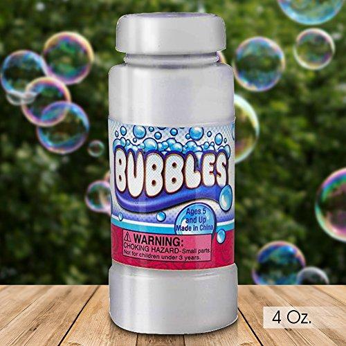 ArtCreativity 4 oz Bubble Solution Refill Bubble Guns (12 Pack/ 4oz Each)   12 Bottles Non-Toxic Bubble Fluid Kids   Liquid Bubble Machine, Bubble Blowing Gun Toy Wands