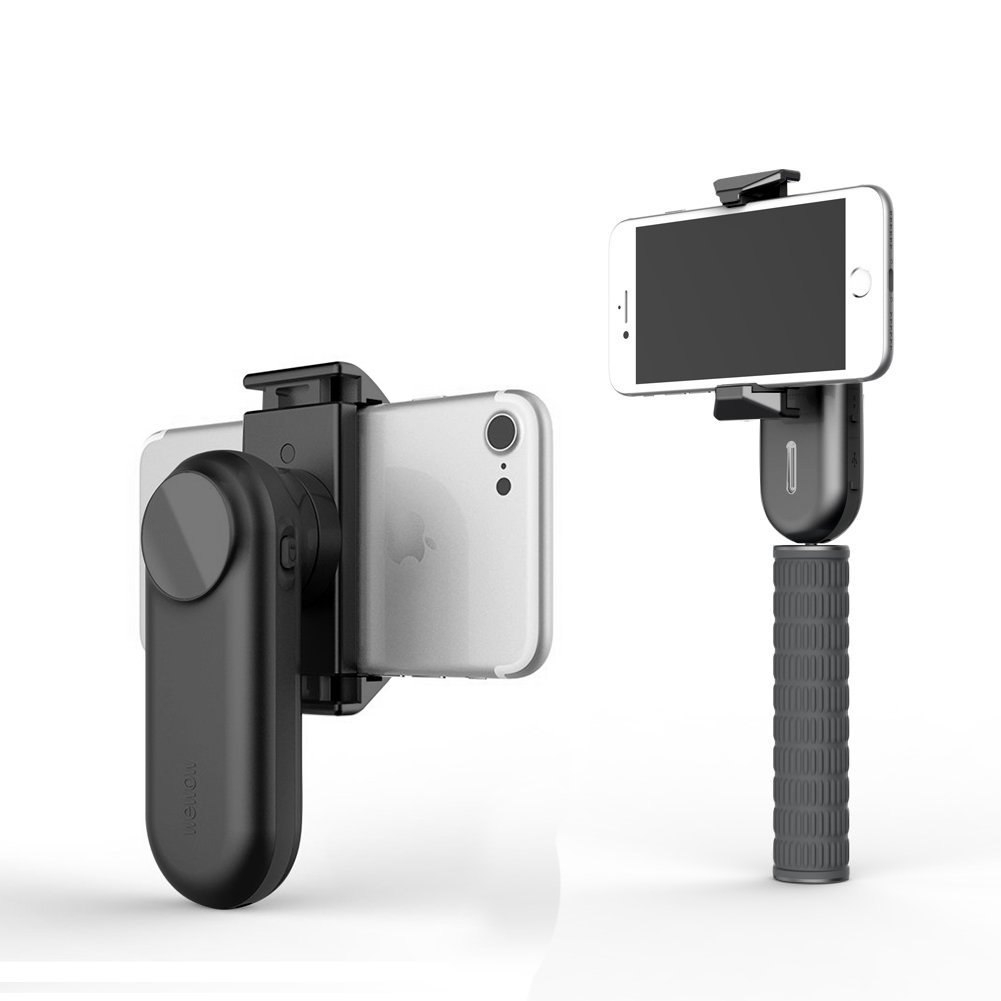 Wewow Fancy Portable Smartphone Gimbal stabilizer with Supplementary Light and Handle (Black)