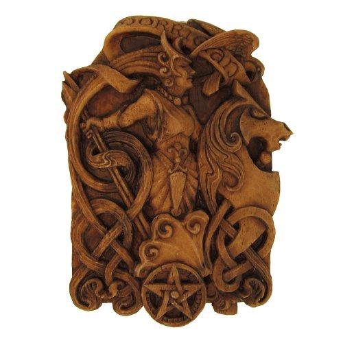 Goddess Plaque (Morrigan Wall Plaque Wood Finish)