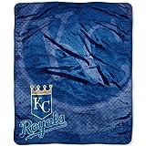 MLB Kansas City Royals Raschel Plush Throw Blanket, Retro Design