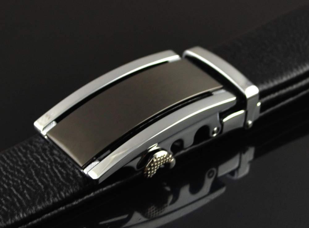 DENGDAI Mens Automatic Belt Leather Belt Length 100-135cm