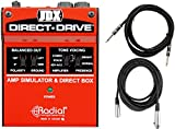 Radial JDX Direct Drive Guitar Amp Simulator DI w/ 2 Cables
