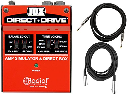 Radial JDX Direct Drive Guitar Amp Simulator DI w/ 2 Cables by Radial