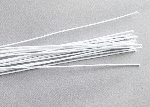 20-Gauge White Floral Stems
