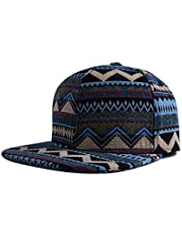 Snapback Hip Hop Hat Flat Peaked Baseball Cap with National Style