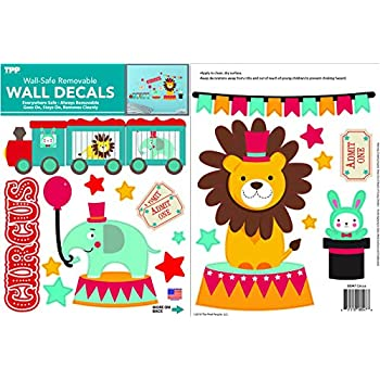 Amazon.com: decalmile circo animales pegatinas de pared ...