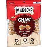 Milk-Bone GnawBones Knotted Bones, Rawhide-Free, Chicken, Mini, 10.2 Ounce Pouch