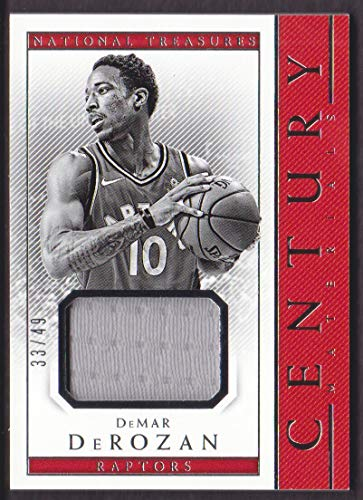 2017-18 Panini National Treasures Basketball Century Materials #CTM-76 DeMar DeRozan Jersey 33/49 Toronto Raptors