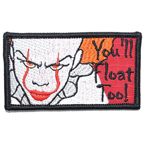 You'll Float Too! Pennywise The Clown - 2x3.5 Morale Patch (King Stephen Patch)