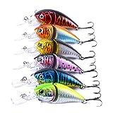 6pcs/lot Jointed Fishing Lures Swimbait Crank Bait Hooks Crankbaits Tackle 8.5cm/14g