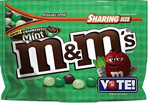 M&M's Flavor Vote Crunchy Mint, 8 Ounce Bag -