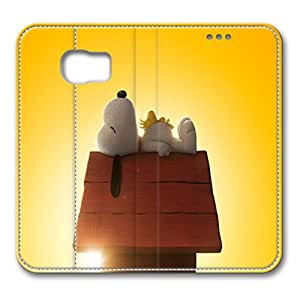 JHFHGVH Leather Case for Samsung galaxy S6, Snoopy Ultimate Protection Leather Case for Samsung galaxy S6