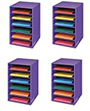 Bankers Box Classroom 6 Shelf Organizer 18''H x 12''W x 13 1/4''D (3381201) (4 Pack)