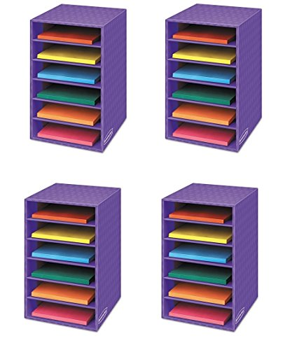 Bankers Box Classroom 6 Shelf Organizer 18''H x 12''W x 13 1/4''D (3381201) (4 Pack) by Bankers Box