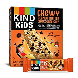 KIND Kids Granola Chewy Bar, Peanut Butter Chocolate Chip, 6 Count (Pack of 8)