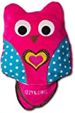 Izzy & Owie Pink Owl Zip Up Pillow with 35x48 inch Blanket Inside, Small,