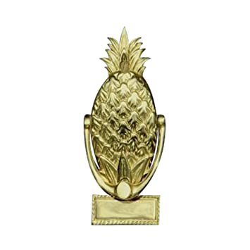 pineapple door knocker history solid brass mill small brushed nickel