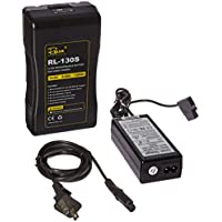 Fovitec StudioPRO V-Lock Battery For LED Light Panels w/Charger. Compatible with: 600/900/1200 LED
