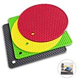Potholders and Silicone Trivet Mats. Our 7 in 1 Multi-Purpose Kitchen Tool is Heat Resistant to 440°F, Non-slip,durable, flexible easy to wash and dry. 4 Pot Holders By Q's INN.