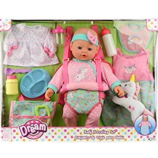 """DREAM COLLECTION 16"""" Baby Doll Travelling Set in Pink"""