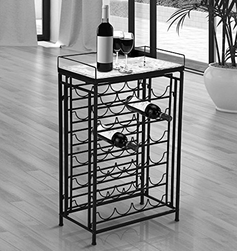 25 Bottle Wine Rack Metal Holder Table Top Glass Iron Display Unique Décor Ornate style New #518