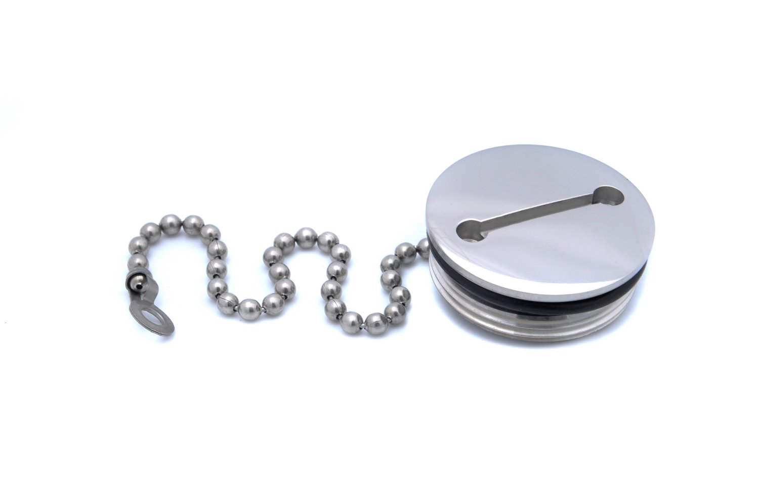 Attwood 66074-3 Replacement Stainless Steel 1.5'' Deck Fill Cap with Chain by attwood