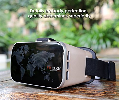 VR Park 3D Glass Virtual Reality Goggles Headset with Pupil and Focal Distance Adjustable Button