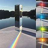 "4"" Crystal Optical Glass Triangular Prism Refractor - Physics Teaching Light Spectrum Optics Kits 100mm"