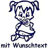 Babyaufkleber mit Wunschtext - Motiv 720 (16 cm) - 20 Farben und 11 Schriftarten wählbar