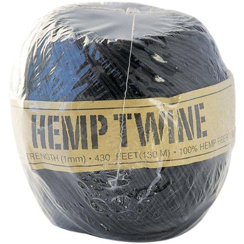 Toner Hemp Cord 20# 400'-Pack-Black