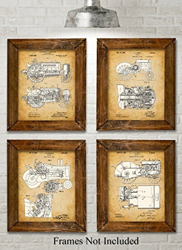 original-john-deere-tractors-patent-art-prints-set-of-four-photos-8x10-unframed