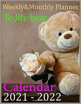 Amazon.com: Calendar Teddy bear 2021 2022: 2021 2022 Monthly