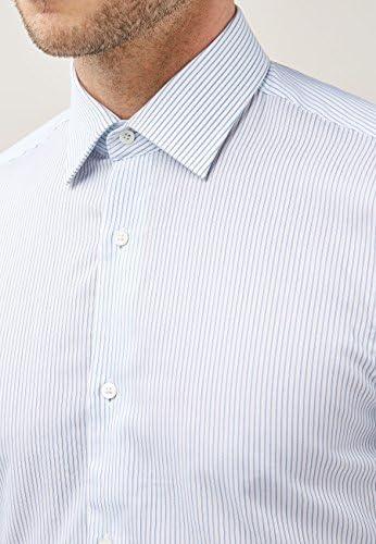 next Hombre Camisa De Corte Slim Signature Canclini Azul ...