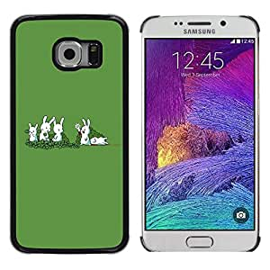 Be Good Phone Accessory // Dura Cáscara cubierta Protectora Caso Carcasa Funda de Protección para Samsung Galaxy S6 EDGE SM-G925 // Funny Rabbit Murder