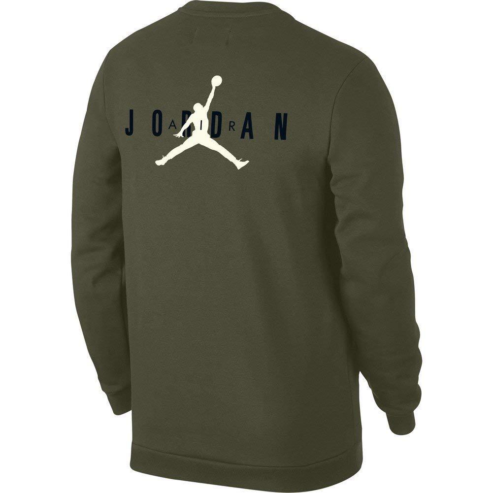 Nike Jumpman Air Crew Sudadera, Hombre, Olive Canvas/Black/White, S: Amazon.es: Deportes y aire libre