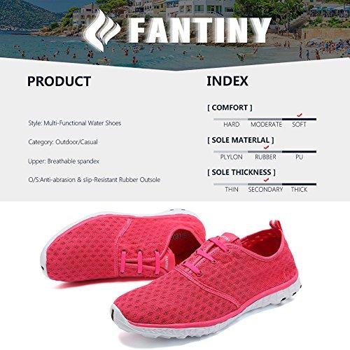 CIOR FANTINY Frauen und Männer Wasser Schuhe schnell trocknende Mesh Slip-On Sportliche Sport Casual Sneakers Rose