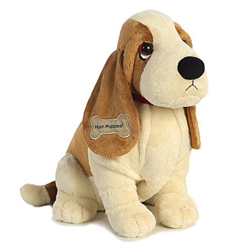 "Aurora World Hush Puppies Classic Basset Hound, 18"" Plush"