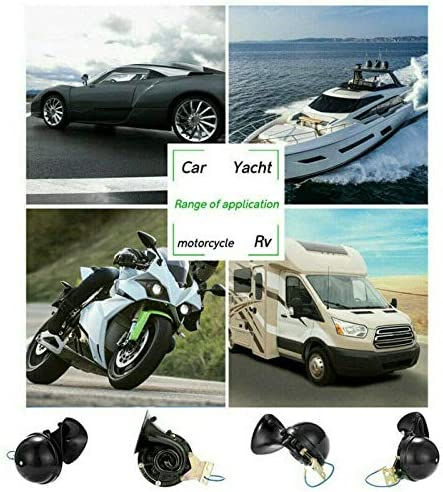 for Raging Car Truck Boat Train 12V Electric Auto Air Horn Super Loud Raging for Motorcycle Car Truck Boat 300DB Loud Air Electric Snail Single Horn