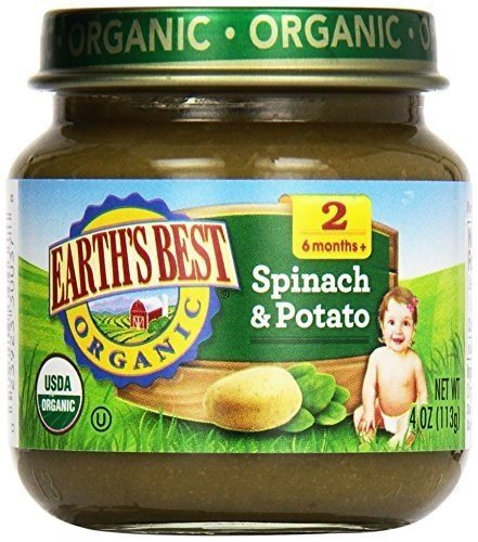 Earths Best Strained Spinach Multi pack