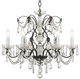 Schonbek Madison 24″W 6-Light Crystal Chandelier For Sale