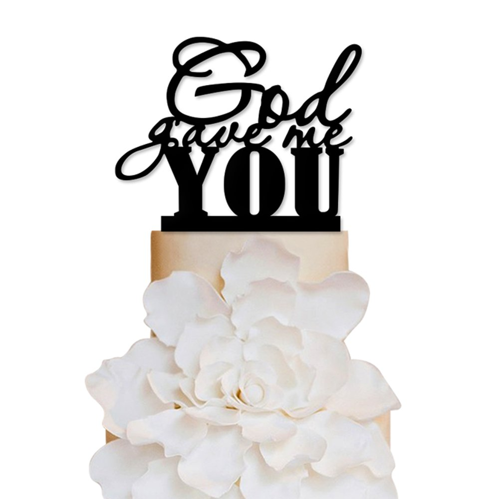 Sugar Yeti Brand Made in USA Cake Toppers God Gave Me You Wedding ...