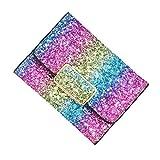 Liliam Women Girls Shiny Colorful Glitters Wallet Purse Card Holder Handbag Clutch(Style 4)