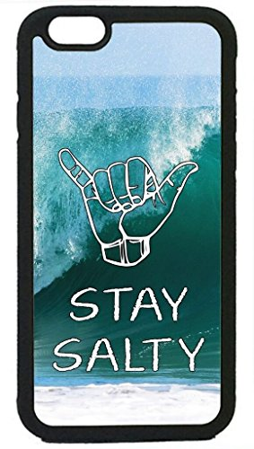RHINO ARMOUR SLIM - Ultra Premium Case -Waves Shaka Surf Surfer Cool Quotes Rubber Silicon Black Case Cover for iPhone 7 4.7