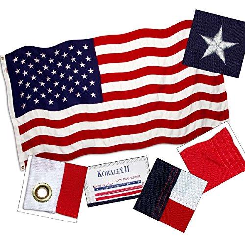 Koralex Usa Flag - American Flag 6ft x 10ft Valley Forge Koralex II 2-Ply Sewn Polyester - FG-USA610SP
