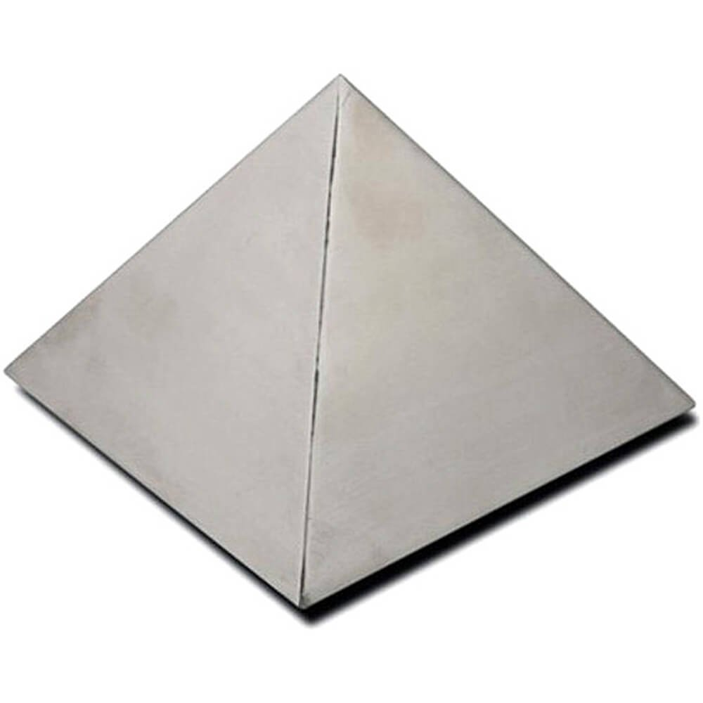 Paderno World Cuisine 5.875 by 5.875 by 4 Inch Stainless Steel Pyramid Mold