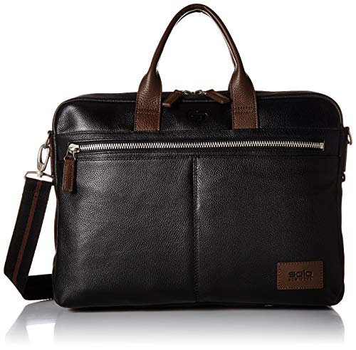 (Solo Shorewood Pebbled Leather Briefcase)