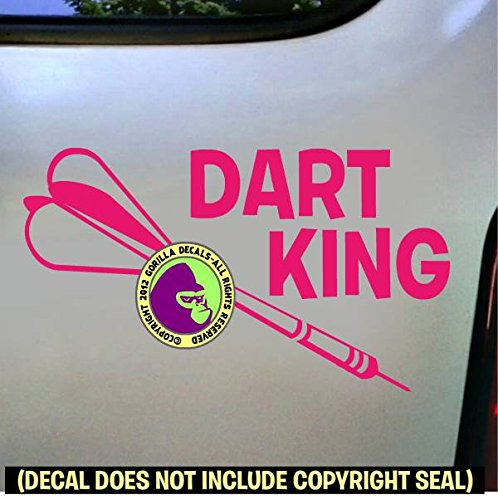 (Darts - DART KING Vinyl Decal Sticker C)