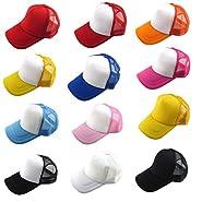 Baseball Hat,Haoricu 2017 Summer 12 Color Unisex Casual Hat Solid Baseball Cap Trucker Mesh Adjustable Hat