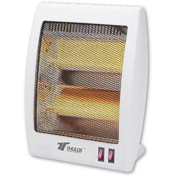 Estufa 2 tubos de cuarzo 400/800W Calefactor Calentador Radiador Halogeno Calor: Amazon.es: Hogar